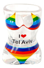 New Shot Glass Tequila I Love Tel Aviv Pride holyland Swimsuit Design Israel