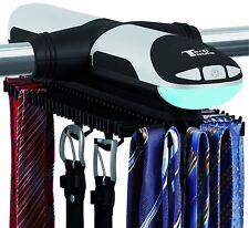 TECH TOOLS Automatic Revolving Tie & Belt Rack w/Bottom Hooks & Bott. LED Light