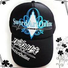 Top Anime Sword Art Online Cotton Tennis Baseball cap adjustable size Sun Hat AA