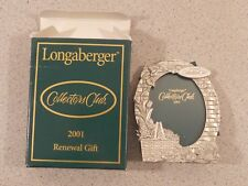 Longaberger 2001 Collectors Club renewal gift pewter picture frame small