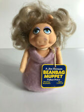 1980 VINTAGE MUPPETS FISHER PRICE MISS PIGGY BEANBAG PLUSH WITH TAG! RARE!!