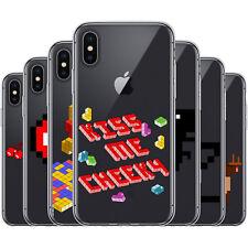 Dessana 8-bit píxeles TPU de silicona, funda protectora, funda, móvil, funda cover para Apple