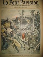 TRAIN TAMPONNEMENT DE CHOISY-LE-ROI MORT D'UN CAMBRIOLEUR LE PETIT PARISIEN 1900