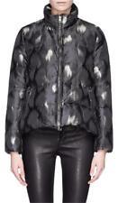 NWT Moncler Y Himawari Bomber Camoflauge Jacquard Jacket Black Women Size 0 XS