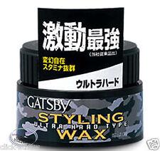 Gatsby Hair Styling WAX  Ultra Hard Type Solid Wax 80g clay Man ladies stylish