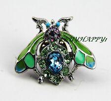 Jay Strongwater Adorable Wasp Tack Pin Swarovski Crystals Brand New