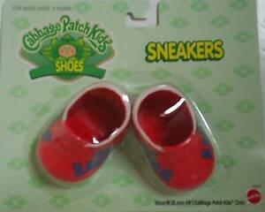 Cabbage Patch Kids Red Sneakers - Trainers - CPK Doll Shoes Brand New