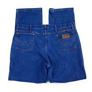 Wrangler Men's 36MWZ Slim Fit Straight Leg 100% Cotton Blue Jeans 40x32