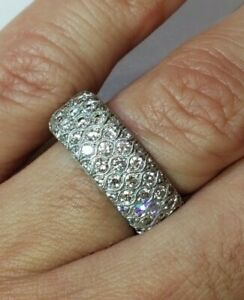Simon G 18k Diamond Eternity Band Ring 1.92cttw Serial no MR1705 $6380 Videos!