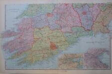 1895 MAP IRELAND SOUTH WEST ~ CORK DUBLIN KILKENNY CHARLEVILLE ENNIS KILLARNEY