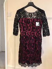 Vestido de noche Negro/Rosa beautifil por Milly of NY