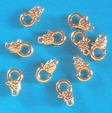 12mm findings for jewellery patterned trigger clasps 20 small silver plated