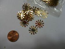 Vintage Gold metallic Starburst sequins - 50 pcs.