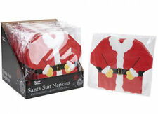 Pack Of 16 Shaped Christmas Xmas Paper Napkins Serviettes Tableware Santa 2 ply