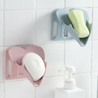 Wall Mounted Soap Holder Kitchen Bathroom Sponge Drain Tray Shower Accessories