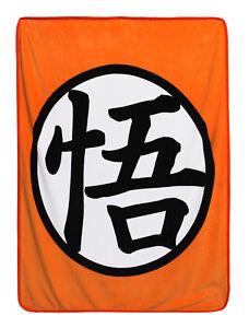 **Legit** Dragon Ball Z Goku Symbol Logo Authentic Anime Throw Blanket #57062