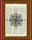 Compass Dictionary Art Print Picture Poster Nautical Ocean Decor Wall Gift