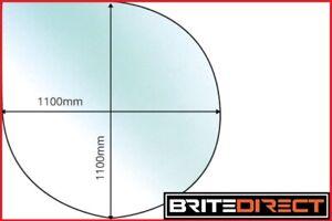 Tear Drop 1100x 1100 Glass Hearth Floor Plate Multifuel Wood Burning Stoves 12mm