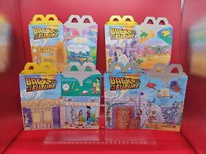McDonald's 1991 Back to the Future SET OF 4 happy meal boxes! MINT