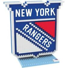 New York Rangers BRXLZ Team Logo 3-D Puzzle Construction Toy New - 739 Pieces