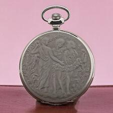 Molnija 3602 Taschenuhr 3 Grazien Chariten Nymphen russische mechanische Uhr