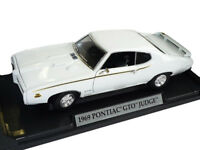 Pontiac Gto Judge 1969 Coupe Weiss Oldtimer 1/18 Motormax Modell Auto mit oder..