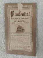 PRUDENTIAL INSURANCE vintage 1913 NEWARK NJ HISTORY booklet PREMIUMS