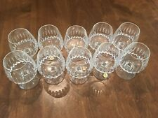 10 VINTAGE SCHOTT-ZWIESEL TANGO pattern FOOTED CRYSTAL GLASS BRANDY SNIFTERS