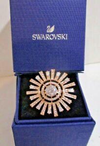 Swarovski Ring - Rose Gold - Sun Ray Crystals - Size 9 / 60 Ring - $169 -#548250