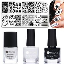 4pcs/set UR SUGAR Stamping Polish Peel Off Liquid Tape Nail Art Stamping Plates