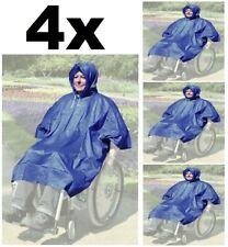 4x Poncho Regenschutz für Rollstuhl Regen Jacke Wetter Schutz Trocken PVC-Folie