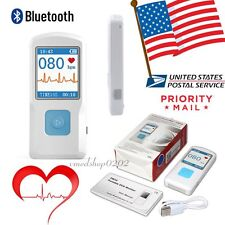 USA!!!PM10 Portable ECG Recorder Heart Rate Monitor Bluetooth Software+Phone APP