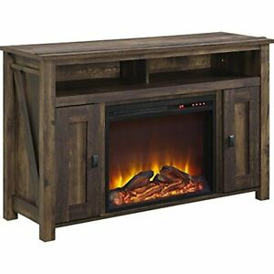 """Ameriwood Home Farmington Electric Fireplace TV Console for TVs up to 50"""", Rusti"""