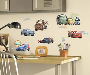26 DISNEY CARS WALL DECALS Lightning Mcqueen Mater Stickers Kids Bedroom Decor