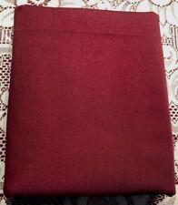 "2pc lot solid maroon/cranberry twill weave cotton, 47""LX60""W, 65""Lx60""W"