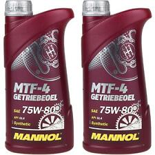 2x1 Liter Original MANNOL Getriebeöl MTF-4 Getriebeoel 75W-80 Gear Oil