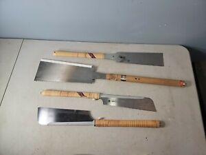 lot of 4 Japanese razor saws SUN CHILD- GYOMUCHO SUPER HARD 03