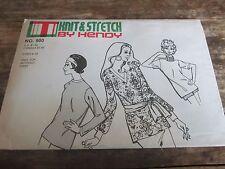 Vtg 1970's Knit & Stretch by Hendy 3 piece knit tops