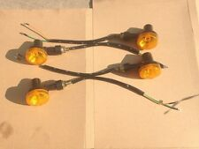 NEW 4 X LED INDICATORS 6V TURN SIGNAL AMBER MOTORCYCLE BLINKER LIGHTS 6 VOLTS