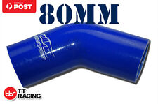 4PLY Silicone 45 Degree Elbow Connector Joiner Turbo Hose Pipe 80mm 3.15""