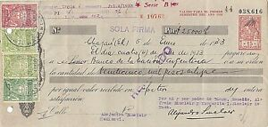 """Argentina 3 Postal Revenue """"I will pay stamps law"""" used and perfins 1933 !"""
