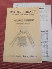 """CATALOGUE - DÉPLIANT ÉCHELLES """" CHANOT """" DAMPIERRE SUR LE DOUBS ( ref 52 )"""