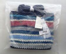 The SAK Amberly Crochet Large Crossbody Bag Tote Marina Stripe B2
