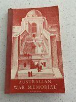 AUSTRALIAN WAR MEMORIAL CANBERRA, Vintage Book 1964.