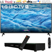 "LG 43UM7300PUA 43"" 4K HDR Smart LED IPS TV w/ AI ThinQ (2019) + Soundbar Bundle"