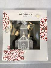 Wedgwood Jasperware Christmas Ornament Grey Figural Church – 701587262743 In Box