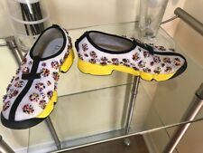 Christian DIOR Fusion Black Yellow White Flowers Embroidered Shoes Sneaker 36