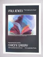 Paul Jenkins Art Gallery Exhibit PRINT AD -- 1978
