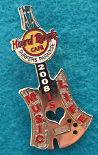 SURFERS PARADISE MUSIC is LIFE SILVER RAZOR AXE BLADE GUITAR Hard Rock Cafe PIN