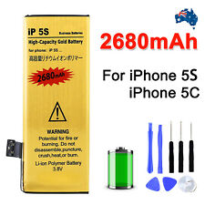 High 2680mah Internal With Tools for Apple iPhone 5s 5c Replacement Battery AU